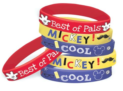©Disney Mickey on the Go Rubber Bracelets, 6ct