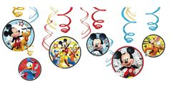 ©Disney Mickey on the Go Value Pack Foil Swirl Decorations, 12ct