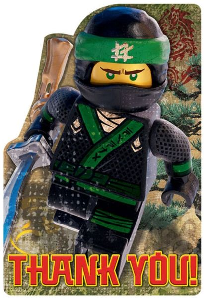 Lego® Ninjago Postcard Thank You, 8ct