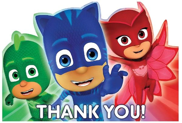 PJ Masks Postcard Thank You Cards, 8ct