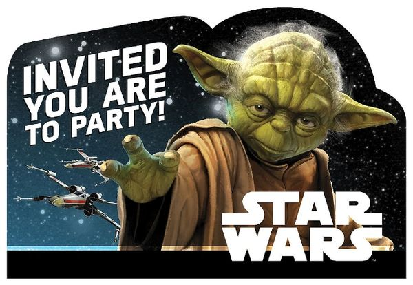 Star Wars™ Classic Postcard Invitations, 8ct