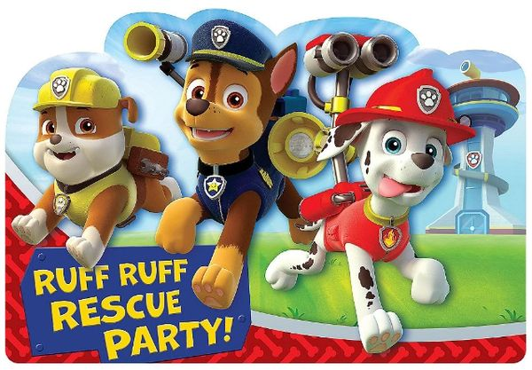 Paw Patrol™ Postcard Invite, 8ct