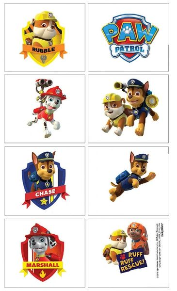 Paw Patrol™ Tattoos, 8ct