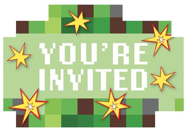 TNT Party! Postcard Invitations, 8ct