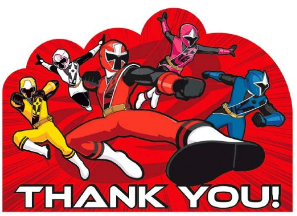 Power Rangers Ninja Steel™ Postcard Thank You, 8ct