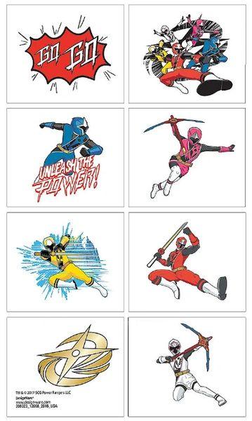 Power Rangers Ninja Steel™ Tattoos, 8ct