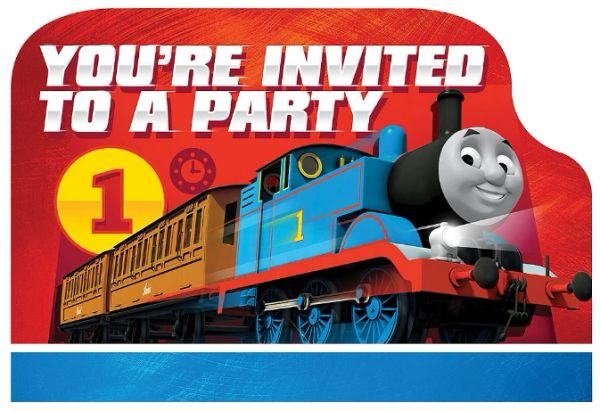 Thomas All Aboard Postcard Invitations, 8ct