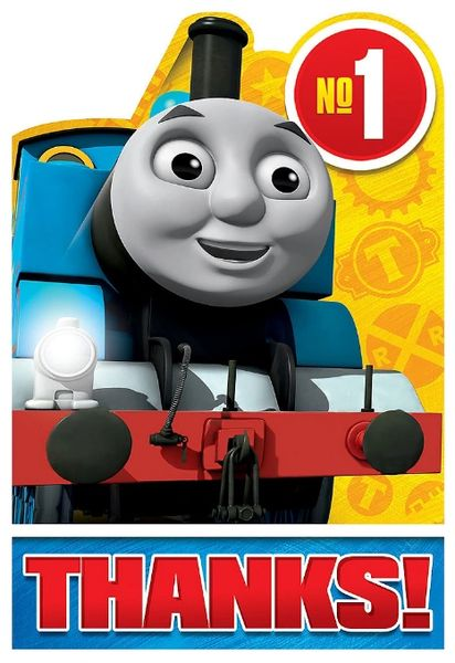 Thomas All Aboard Postcard Thank You, 8ct