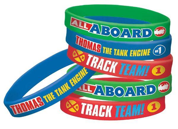 Thomas All Aboard Rubber Bracelets, 6ct