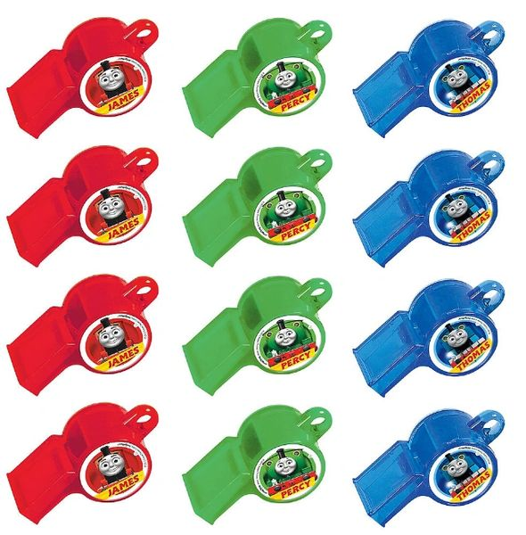 Thomas All Aboard Packaged Whistles, 12ct