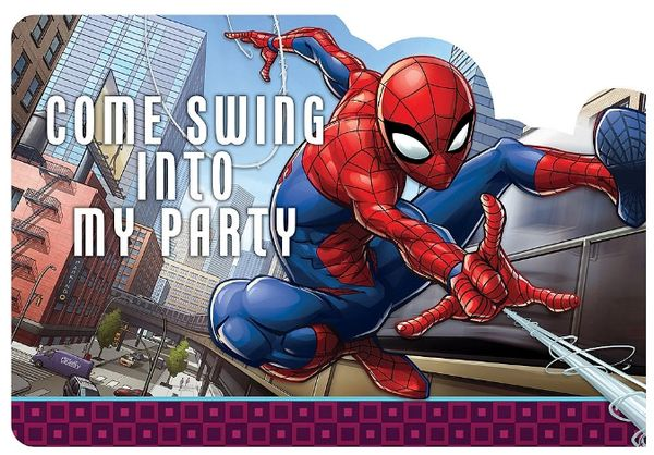 Spider-Man™ Webbed Wonder Postcard Invites, 8ct