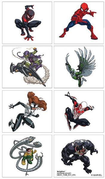 Spider-Man™ Webbed Wonder Tattoos, 8ct