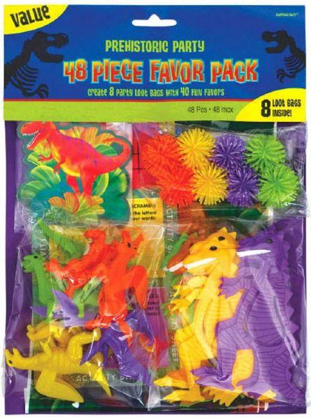 Prehistoric Dinosaurs Favor Value Pack, 48ct