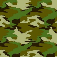 Camouflage Printed Gift Wrap w/Hang Tab