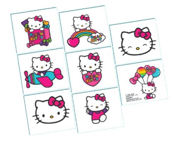 Hello Kitty Rainbow® Tattoo Favors, 8ct