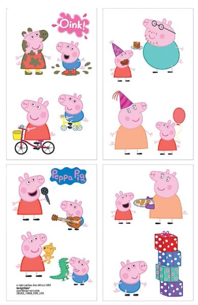 Peppa Pig™ Tattoo Favors