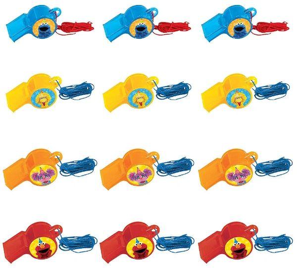 Sesame Street® Whistle Favors, 12ct