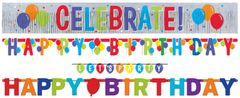 Balloon Bash 4-In-1 Value Pack Banners, 4ct