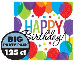 Balloon Bash Beverage Napkins, 125ct