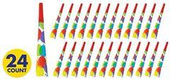 Balloon Bash Horns, 24ct