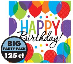 Balloon Bash Luncheon Napkins, 125ct