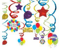 Balloon Bash Swirl Decorations, 50ct