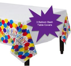 Balloon Bash Plastic Table Covers, 3ct