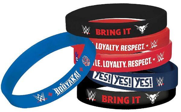WWE®Party Rubber Bracelets, 6ct