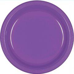 "Purple Dessert Plates, 7"" - 20ct"