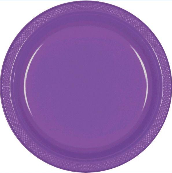 "Purple Dinner Plates, 10 1/4"" - 20ct"