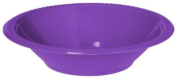 Purple Plastic Bowls, 12oz - 20ct
