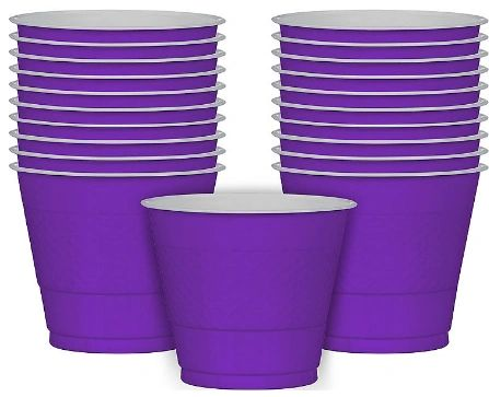Purple Plastic Cups, 9 oz - 20ct