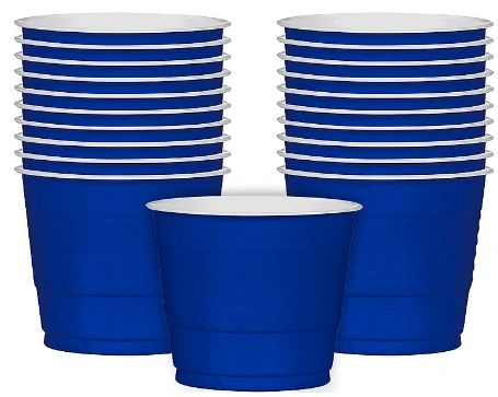 Bright Royal Blue Plastic Cups, 9 oz - 20ct