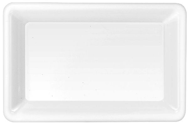 White Plastic Rectangular Platter