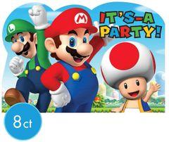 Super Mario Brothers™ Postcard Invitations, 8ct
