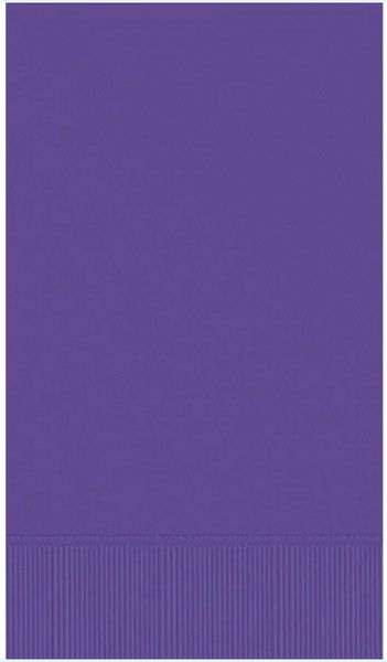 Purple 3-Ply Guest Towels, 16ct