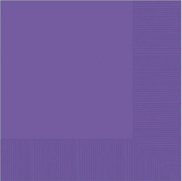 Purple 2-Ply Beverage Napkins, 50ct