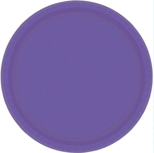 "Purple Lunch Plates, 9"" - 20ct"