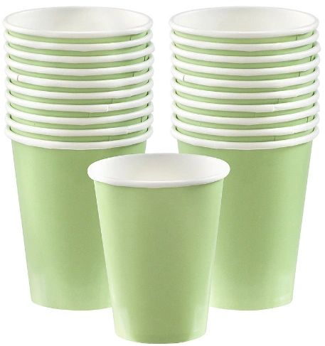 Leaf Green Paper Cups, 9oz. 20ct