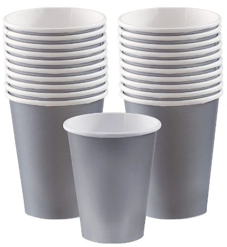 Silver Paper Cups, 9oz - 20ct