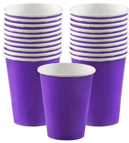 Purple Paper Cups, 9oz - 20ct