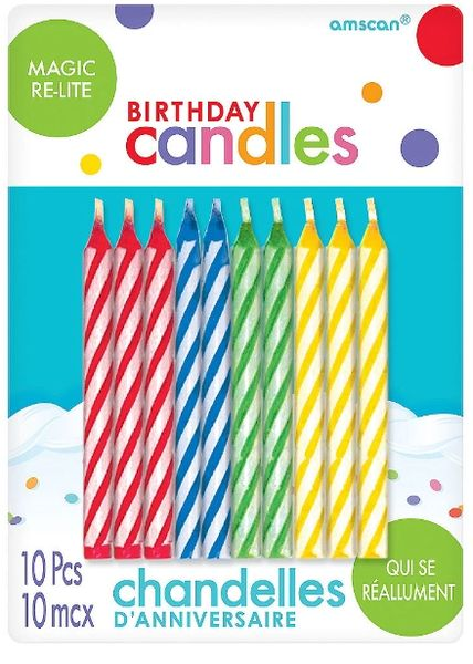 Magic Re-Light Birthday Candles, 10ct