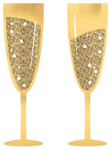 Jumbo Champagne Glass Photo Prop, 2ct