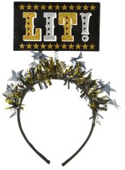 New Year's Lit! Light-Up Headband - Black, Silver, Gold