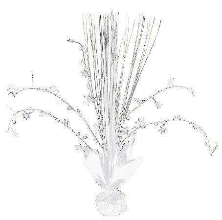 Foil Spray Centerpiece - Frosty White