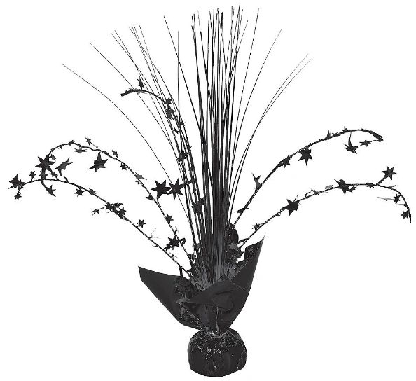 Foil Spray Centerpiece - Jet Black