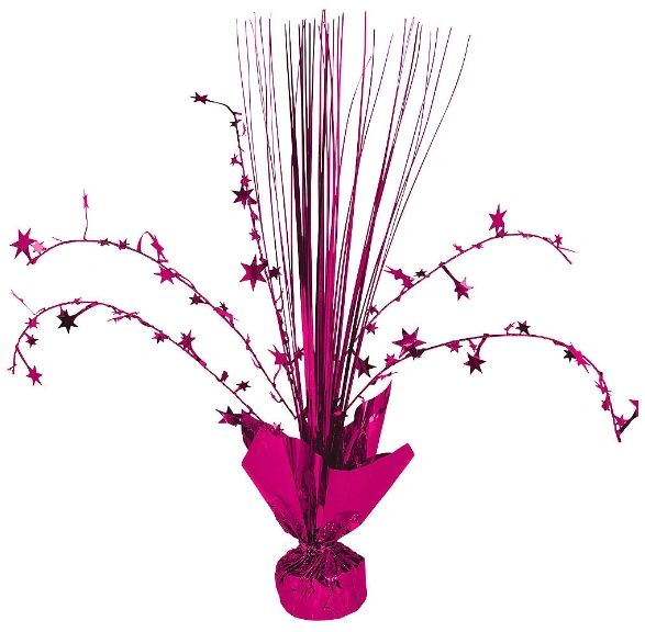 Foil Spray Centerpiece - Bright Pink