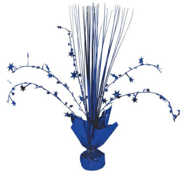 Foil Spray Centerpiece - Bright Royal Blue
