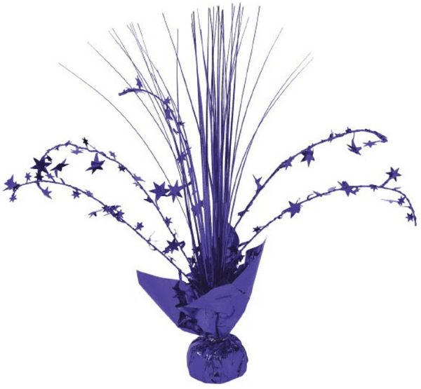 Foil Spray Centerpiece - Purple