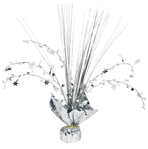 Silver Foil Spray Centerpiece